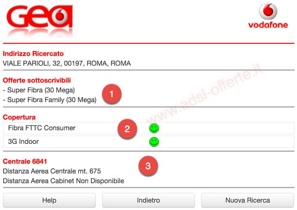 Copertura ADSL e Fibra Vodafone: Copertura Vula Vodafone