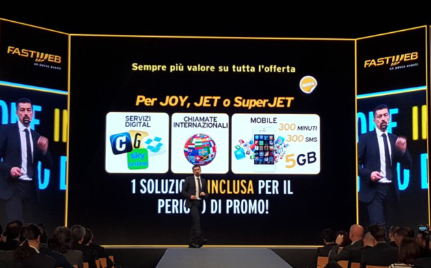 Roberto Chieppa presenta le nuove offerte Fastweb che includono tutte un pacchetto digital incluso